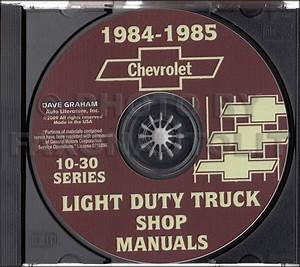 1984 1985 Chevy Truck Shop Manual Cd Pickup Scottsdale