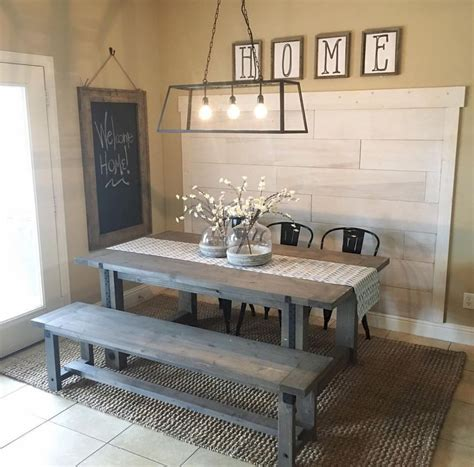 Gorgeous 50 Country Rustic Dining Room Table Ideas https
