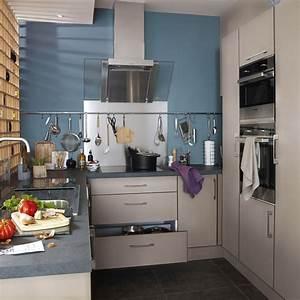 Barre Ustensiles Cuisine Leroy Merlin : meuble de cuisine gris delinia topaze leroy merlin ~ Melissatoandfro.com Idées de Décoration