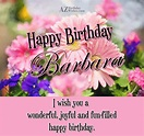 20 Happy birthday wishes for Barbara.