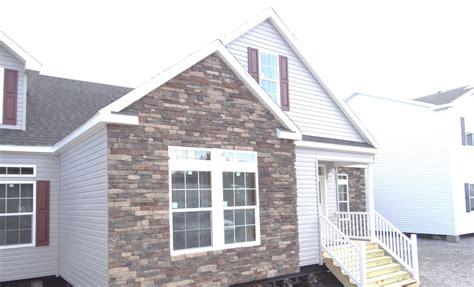 stone  brick exterior  manufactured  modular homes