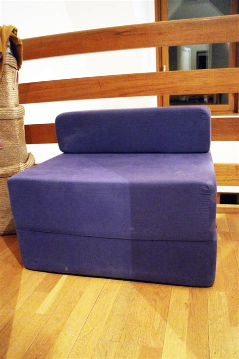 fauteuil chauffeuse couchage 1 place bleu luckyfind