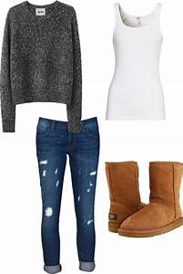Looks comfy for the winter. Maybe change the boots to gray? Still cute. | Pop Miss