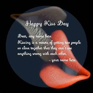couple name kis... Kiss Day Romantic Quotes