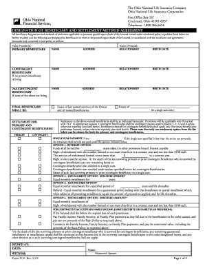 ohio national annuity surrender form fill