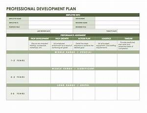 professional development plan templates office business With professional development plan sample templates