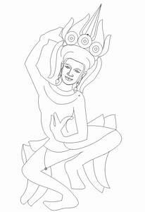 Fine Khmer: Kbach Khmer Banteay Srey Vector Graphic *.cdr