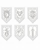 Knights Nexo Lego Shields Coloring Fun Pages Knight Shield Kleurplaten Cookies Zo Sketchite Sketch Larger Credit Boy Pinu Zdroj sketch template