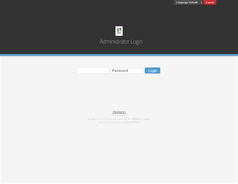 Free Joomla Admin Template