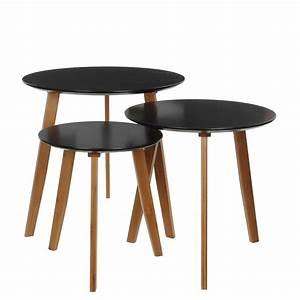 Table Ronde Noire : table ronde noire 32 ht 35 cm florimat ~ Teatrodelosmanantiales.com Idées de Décoration