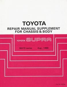 Buy 1988 Toyota Supra Repair Manual Supplement For Chassis