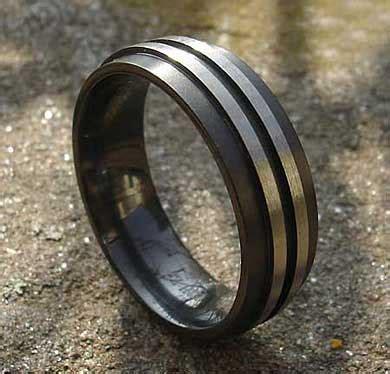 two tone men s alternative wedding ring love2have in the uk