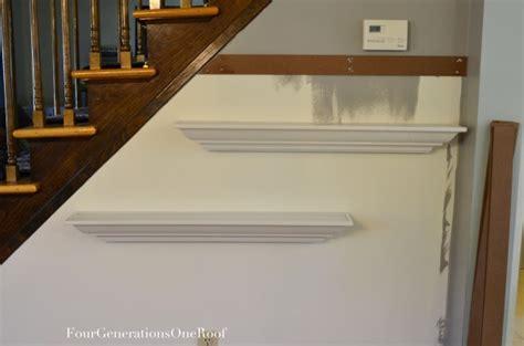 hang shelves  painters tape tutorial