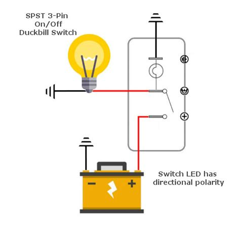 Lighted Duckbill Toggle Switch For Car Boat Truck Mgi