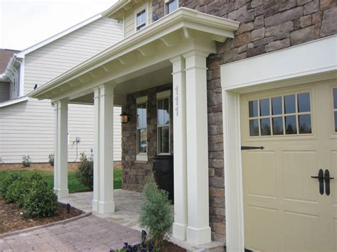 Decorative Front Porch Columns - non tapered pvc porch columns curb appeal products