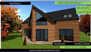 cout extension brevet With maison demi niveau plan 16 esprit bois maison ossature bois demi ronde constructeur