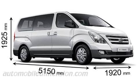 Hyundai H1 Backgrounds by Hyundai H 1 Travel 2015 Dimensions Boot Space And Interior