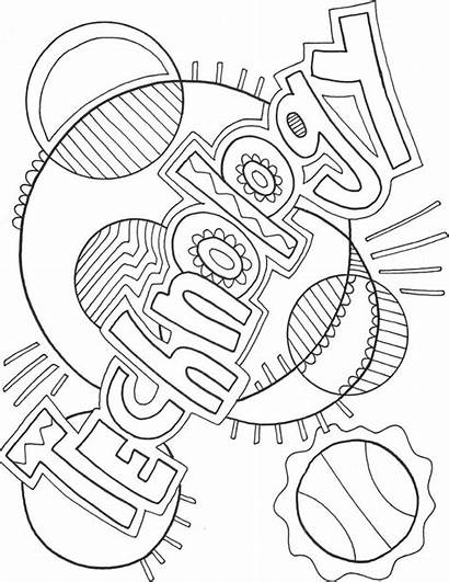 Coloring Pages Technology Computer Science Subject Covers