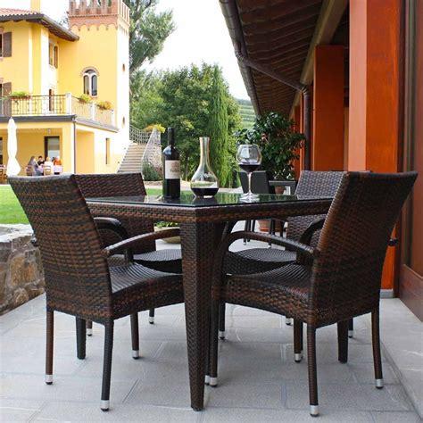 sedie in alluminio per esterno komodo tavolo in simil rattan per esterno piano in