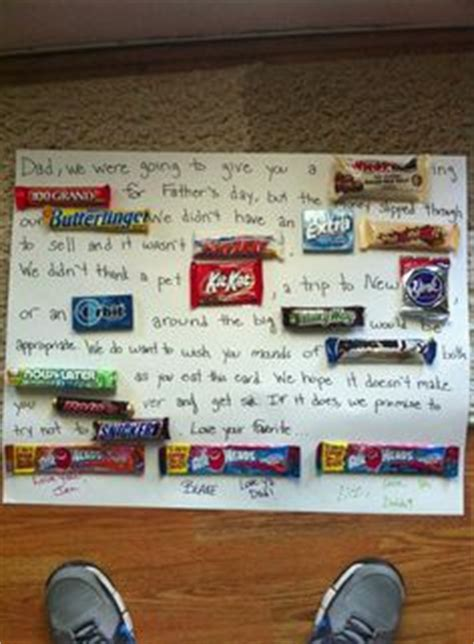 happy father s day candy card that i made with my niece