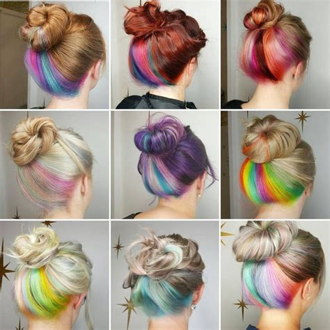 Hair With Color Underneath by Best 25 Underneath Hair Ideas On