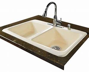 double bowl self rimming transitional kitchen sinks With ceco floor sink