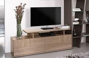Mur Tv Bois : meuble tv contemporain design collection brem by gautier ~ Teatrodelosmanantiales.com Idées de Décoration