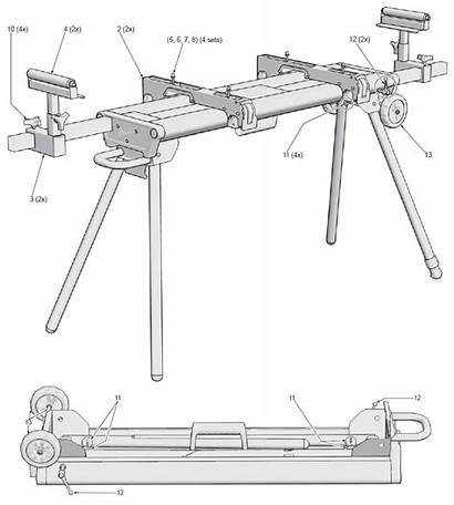 Milwaukee 0550 48 Parts Stand Miter Replacement