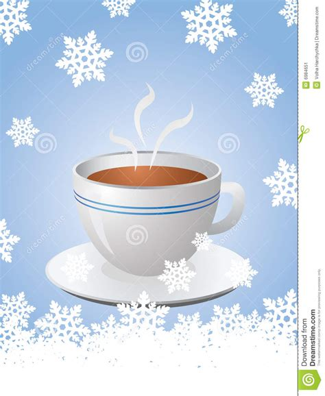 Christmas Card With Hot Cup Of Coffee Stock Image   Image: 6984651