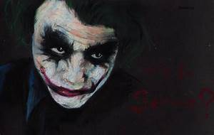 Why so serious? Heath Ledger as the Joker. by Shinigami ...