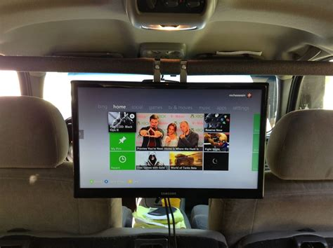 Bid Up Tv How To Set Up Your Xbox One Ps4 Or Wii Inside The Car