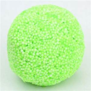 lime green microbead slime with case kawaii floam mud clay