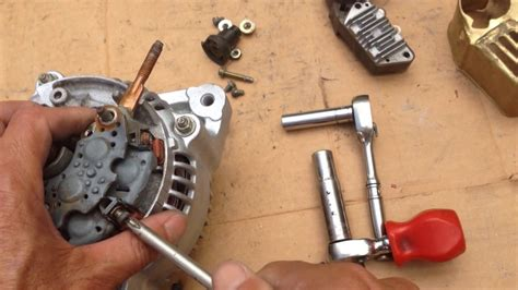 replace voltage regulator alternator brush honda