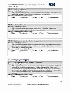 it security plan template With facility security plan template