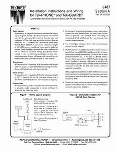 Installation Instructions And Wiring For Tek