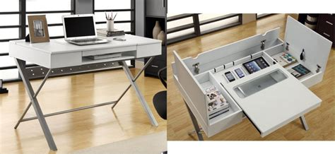 desk with lots of storage this sleek simple desk hides a lot of storage the gadgeteer