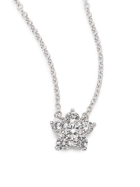 lyst kwiat cluster diamond  white gold flower