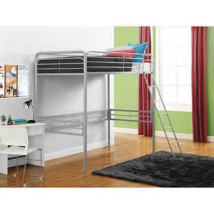 metal twin loft bed multiple colors walmart com