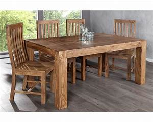 Table Bois Massif Design : table manger bois table de salle a manger design maisonjoffrois ~ Teatrodelosmanantiales.com Idées de Décoration