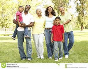 Portrait Of Extended Family Group In Park Stock Image ...  Extended