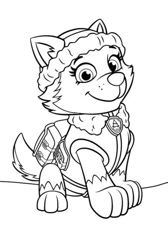 Paw Patrol Everest coloring page Free Printable Coloring