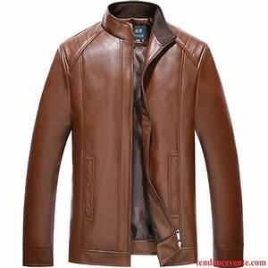 Veste En Cuir Rouge Homme : blouson cuir aviateur rouge homme mince plus de velours v tements d 39 hiver pardessus col mandarin ~ Melissatoandfro.com Idées de Décoration