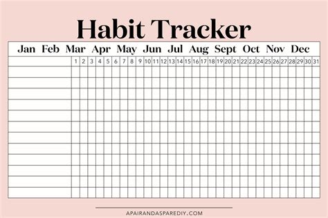habit tracker how to adopt a new healthy habit and stick to it a pair a spare