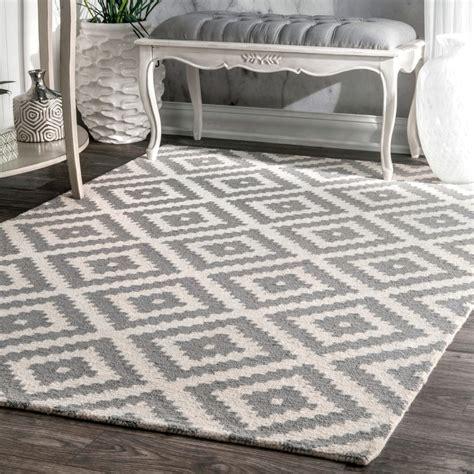 mercury row obadiah hand woven wool gray area rug reviews wayfair