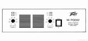 Peavey M-7000 - Manual - Stereo Power Amplifier
