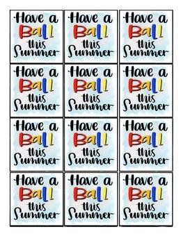 ball  summer    year tag  written