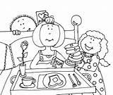 Breakfast Bed Mother Mom Mothers Ellen Digi Mary Smith sketch template