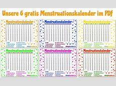 Menstruationsrechner mit gratis Menstruationskalender PDF