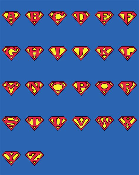 superman alphabet clipart man bbcpersian7 collections