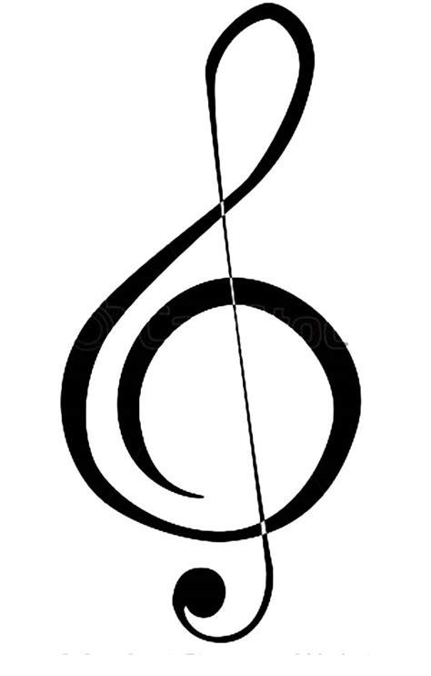 draw  treble clef coloring page color luna